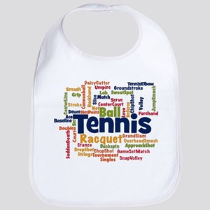 Tennis Word Cloud Bib