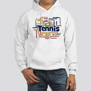 Tennis Word Cloud Hoodie