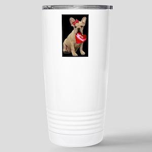 french bulldog valentine Travel Mug