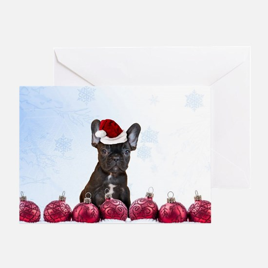 Christmas French Bulldog Greeting Cards