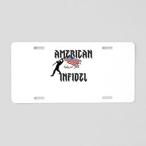 AMERICAN INFIDEL 2 Aluminum License Plate