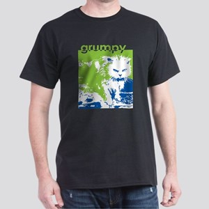 Grumpy Green Kitty Dark T-Shirt