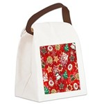 Christmas Cookies Canvas Lunch Bag