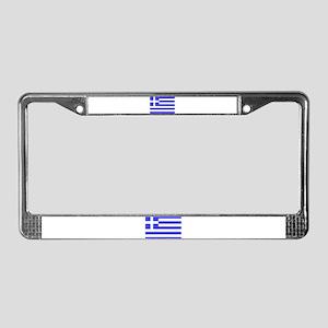 Flag of Greece License Plate Frame