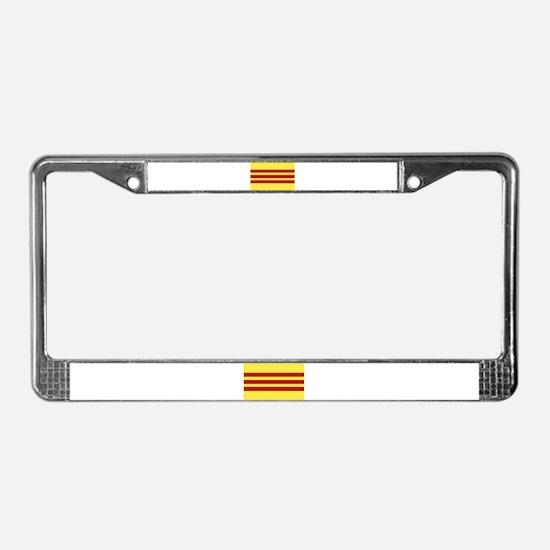 Vietnamese Flag License Plate Frame