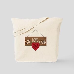 Live Love Camping Tote Bag