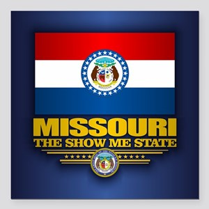 "Missouri (v15) Square Car Magnet 3"" x 3"""