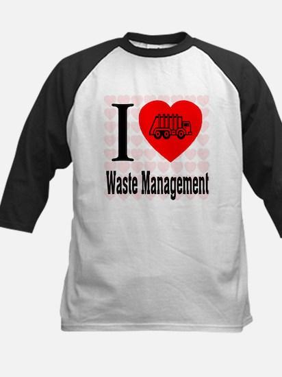 I Love Waste Management Kids Baseball Jersey