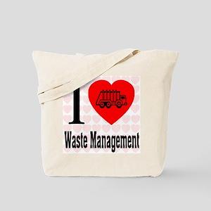 I Love Waste Management Tote Bag