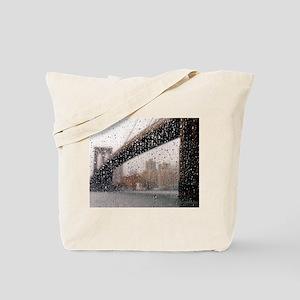 Brooklyn Bridge: Wet Series Tote Bag
