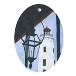 Camp Street Light House Oval Ornament