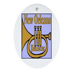 New Orleans Jazz Oval Ornament