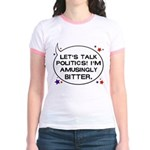 Political and Bitter Ringer T-shirt