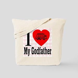 I Love My Godfather Tote Bag