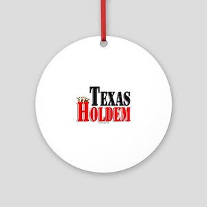 Texas Holdem Ornament (Round)