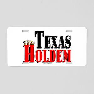 Texas Holdem Aluminum License Plate