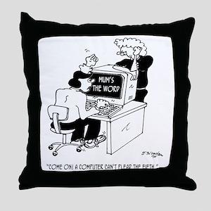 Computer Cartoon 3879 Throw Pillow