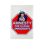 No Amnesty Rectangle Magnet