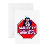 No Amnesty Greeting Cards (Pk of 10)