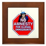 No Amnesty Framed Tile