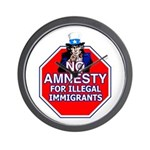 No Amnesty Wall Clock