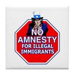 No Amnesty Tile Coaster