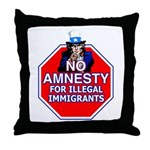 No Amnesty Throw Pillow