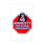 No Amnesty Rectangle Sticker