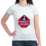 No Amnesty Jr. Ringer T-Shirt