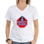 No Amnesty Women's V-Neck T-Shirt