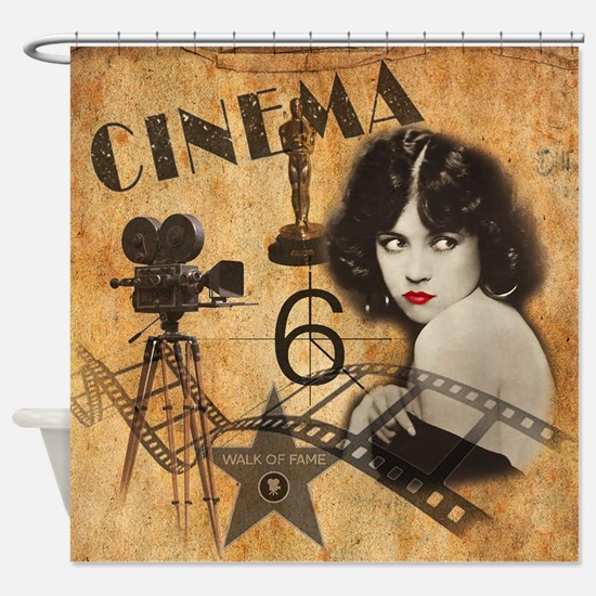 Funny Walk fame Shower Curtain