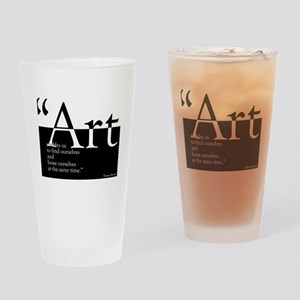 Art Drinking Glass