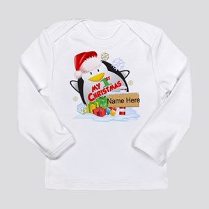 Penguin 1st Christmas C Long Sleeve Infant T-Shirt