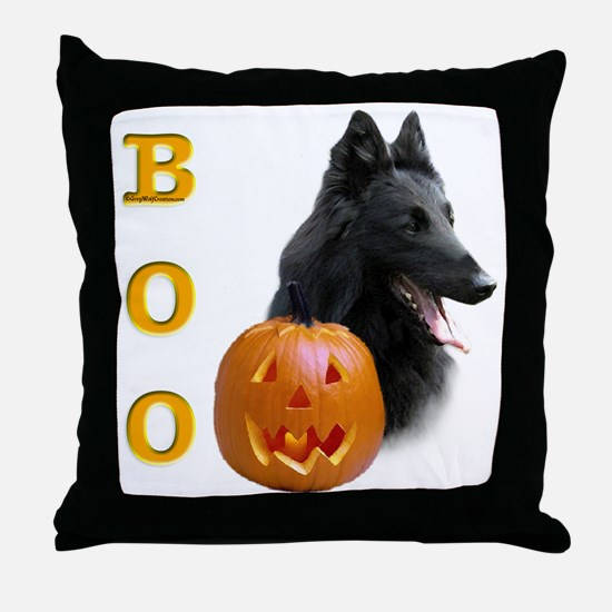 Belgian Sheepdog Boo Throw Pillow