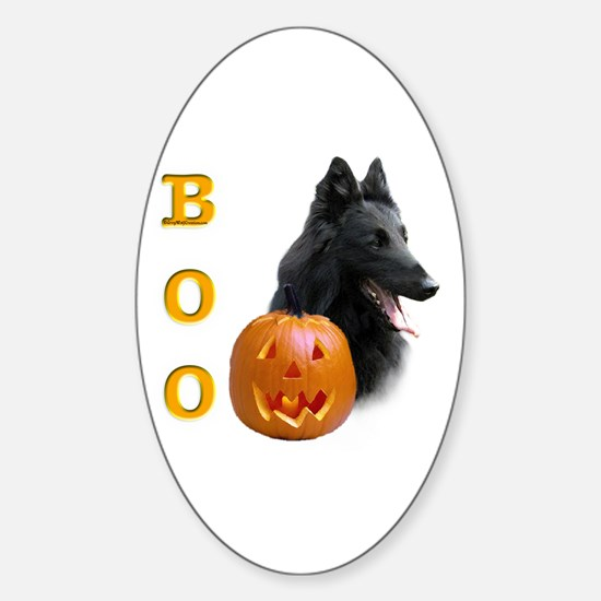 Belgian Sheepdog Boo Oval Decal