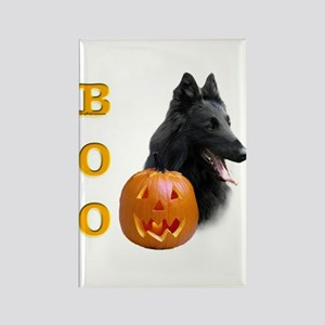 Belgian Sheepdog Boo Rectangle Magnet