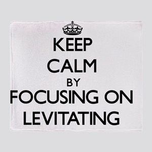 Keep Calm by focusing on Levitating Throw Blanket