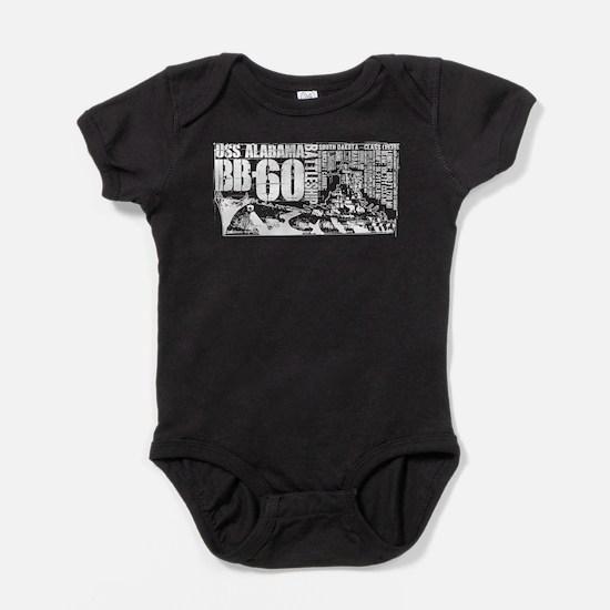 USS Alabama (BB-60) Baby Bodysuit