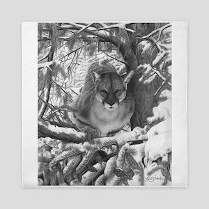 Mountain Lion Hideout Queen Duvet