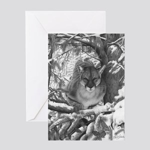 Mountain Lion Hideout Greeting Cards