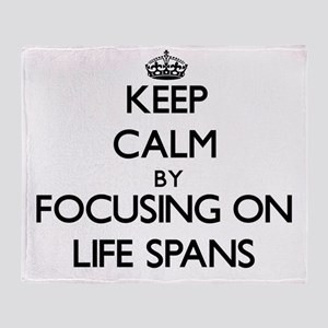 Keep Calm by focusing on Life Spans Throw Blanket