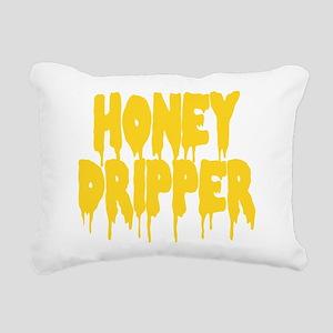 Honey Dripper Rectangular Canvas Pillow