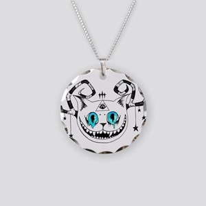 Cheshire Illuminati Pyramid Necklace Circle Charm