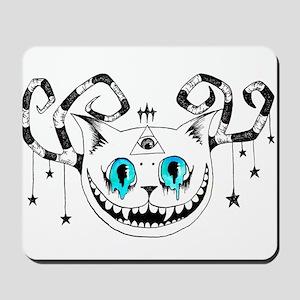 Cheshire Illuminati Pyramid Eye Mousepad