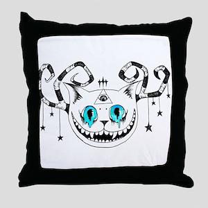 Cheshire Illuminati Pyramid Eye Throw Pillow