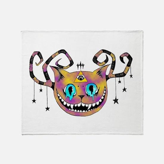 Cheshire Illuminati Pyramid Eye Throw Blanket
