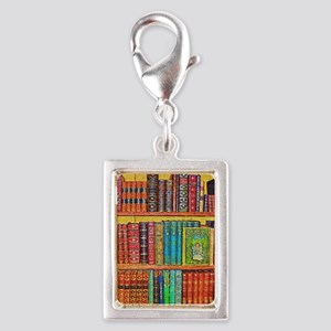 Library Silver Portrait Charm
