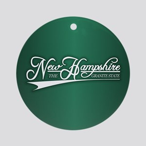 New Hampshire State of Mine Ornament (Round)
