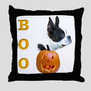 Boston Boo Throw Pillow