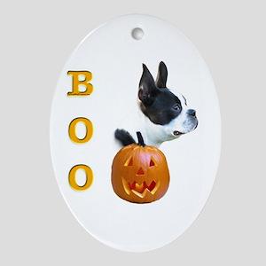 Boston Boo Oval Ornament